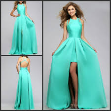 aliexpress com buy mint green prom dresses satin long floor