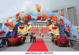 New Year Bay Decorations by Goldfish Colourful Decorations For The Chinese New Year Stock