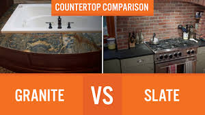 slate countertop granite vs slate countertop comparison youtube