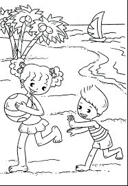 printable beach coloring pages page summer to print preschool for