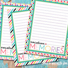 printable vacation journal pages i should be mopping the floor newsletter printable vacation