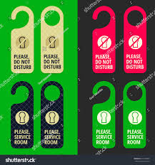 hotel door hanger handle knob design stock vector 419323885