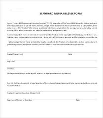 media release form template 8 free sample example format