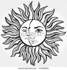 royalty free stock photos and images bohemian sun and moon