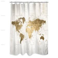 mapamundi white gold shower curtain u2014 oliver gal