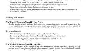cover letter best server resume templates 2016 waiter resume