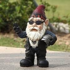 hi line gift ltd biker gnome statue reviews wayfair