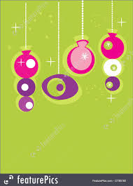 retro christmas ornaments illustration