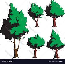 cartoon trees royalty free vector image vectorstock