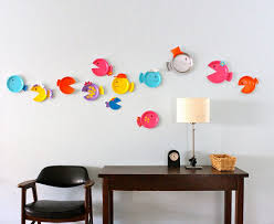 how to make home decorative items leap of colorful fishes as home decor ideas