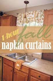 Fall Kitchen Curtains How To Make 1 Hour Fall Napkin Curtains Or A Valance For Every