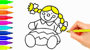 baby doll drawing for kids coloring pages learning colouring