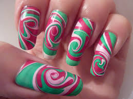 christmas xmas swirl spiral water marble nail art design l u2026 flickr