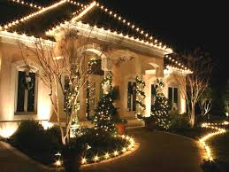 Christmas Lighting Ideas by Exterior Outdoor Home Lights Ideas Led Chain Lights Surround The