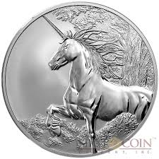 tokelau unicorn 5 creatures of myth legend silver coin year of