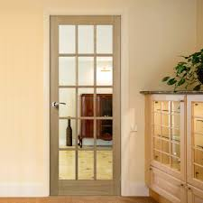 Fire Rated Doors With Glass Windows by Made To Measure 15 Pane Style Clear Glass Fire Door Is 30 Minute