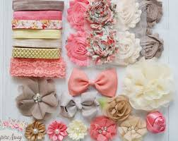 how to make baby flower headbands shabby chic headband etsy