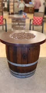 wine barrel fire table wine barrel fire pits