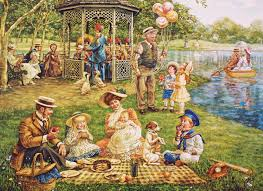jigsaw puzzles family picnic 1000 puzzle by cobble hill