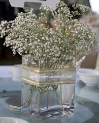baby breath centerpieces baby s breath theme outdoor wedding voila mademoiselle s