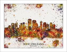 City Map Of New Orleans by New Orleans Skyline New Orleans Map Of New Orleans