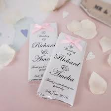 bow chocolate wedding favours by tailored chocolates and gifts