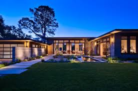 Contemporary Style Homes by Classy House With U Shaped Design And Beautiful Entry Courtyard