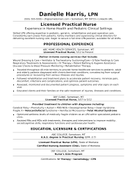 Lpn Resume Example by Resume Licensed Practical Nurse Resume Template