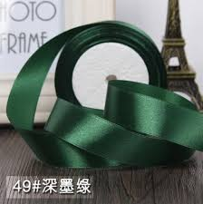 silk satin ribbon 25 yards roll 1 2 5cm green silk satin ribbon wedding party