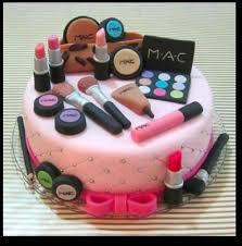 creative mac makeup cake