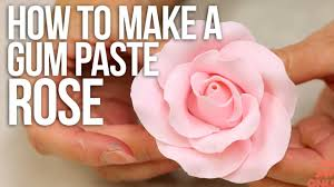 Where To Buy Rose Petals How To Make A Large Rose From Gum Paste Cake Tutorials Youtube