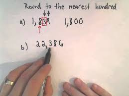 rounding integer numbers rounding whole numbers to the nearest hundred