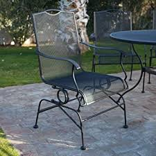 Amazoncom  Belham Living Stanton Wrought Iron Coil Spring Dining - Woodard furniture