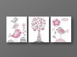 Deco Chambre Gris Et Rose by Lot De 3 Illustrations Pour Chambre D U0027enfant Et Bebe Rose Et Gris