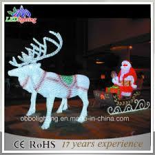 china santa claus led outdoor light sculptures led 3d deer