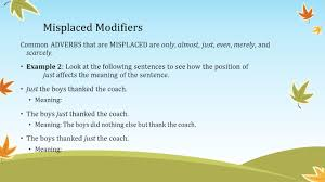 modifiers mrs ppt video online download