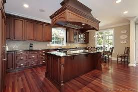 cream paint color ideas for modern kitchen with cherry cabinets