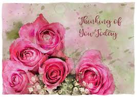 thinking of you flowers watercolour roses thinking of you greeting stock illustration