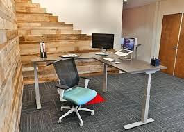 l shaped standing desk desk uplift 950 electric sit stand l shaped desk l shaped sit