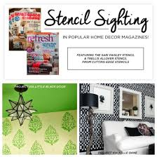 Home Decoration Magazines Stencil Sighting In Popular Home Decor Magazines Stencil Stories