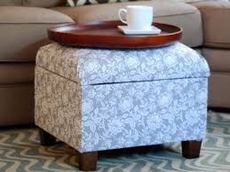 Storage Ottoman Upholstered How To Re Cover An Upholstered Ottoman How Tos Diy