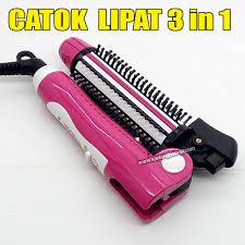 Catokan Ke 3 in 1 lipat alat catok rambut catokan curl iron
