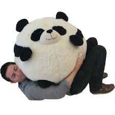 massive panda bean bag an adorable fuzzy plush to snurfle and
