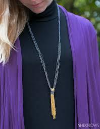 tassel necklace make images Diy chain tassel necklace jpg