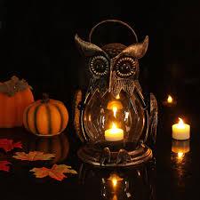 wedding gift holder owl tealight holder hurricane candleholders hanging lantern for