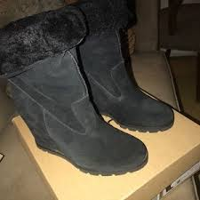 ugg womens laurin boots black s black ugg wedge boots on poshmark