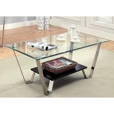 espresso beveled glass coffee table furniture of america ardea beveled glass top coffee table chrome