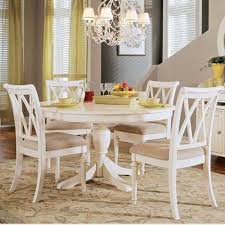 Simple White Dining Room Honeysuckle Life Contemporary Ideas White Round Dining Table Set Stylist Design