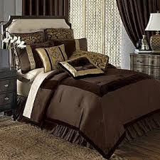 Chris Madden Bedroom Set by Amazon Com Chris Madden Savona Chocolate Brown Gold Velvet
