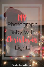 how to photograph baby with christmas lights spit up and sit ups